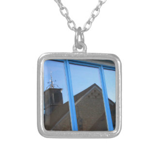 Wind Vane in the Window Silver Plated Necklace