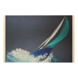 Wind wave breaker wood canvases