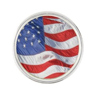 Wind Waving American Flag Lapel Pin