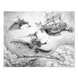 Wind Whales Photographic Print Cojinete