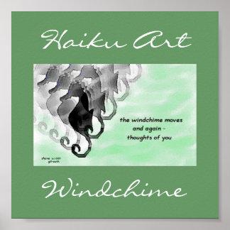 Windchime Haiku Art Print