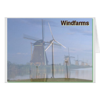 Windfarms Past and Present Card