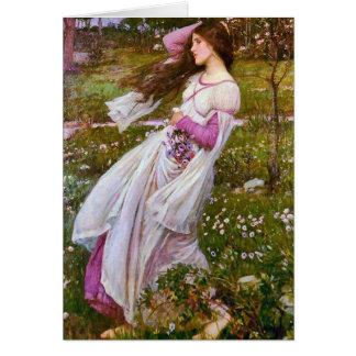Windflowers by John William Waterhouse Card