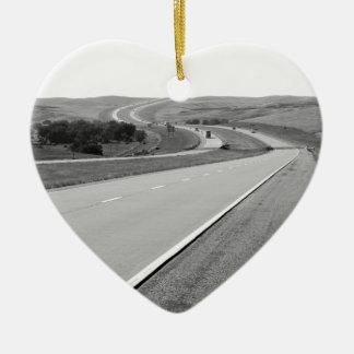 Winding Road Ceramic Ornament
