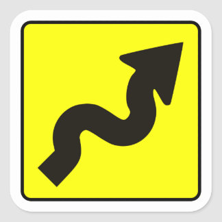 Winding Road Decal Square Sticker