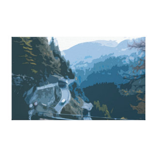 Winding Roads with a Wilderness View Canvas
