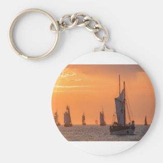 Windjammer in sunset light keychain