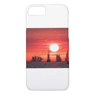 Windjammer in sunset light on the Baltic Sea iPhone 8/7 Case