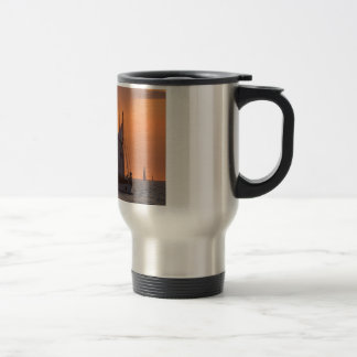 Windjammer in sunset light travel mug