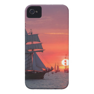 Windjammer in sunset on the Baltic Sea Case-Mate iPhone 4 Case
