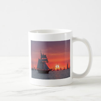 Windjammer in sunset on the Baltic Sea Coffee Mug