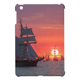Windjammer in sunset on the Baltic Sea Cover For The iPad Mini
