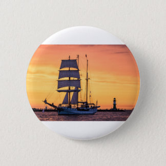 Windjammer on the Baltic Sea 2 Inch Round Button