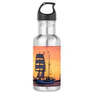 Windjammer on the Baltic Sea 532 Ml Water Bottle