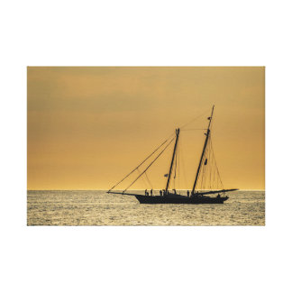 Windjammer on the Baltic Sea Canvas Print