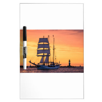 Windjammer on the Baltic Sea Dry Erase Board