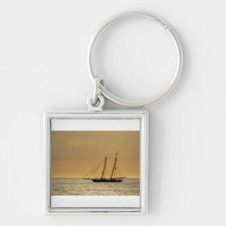 Windjammer on the Baltic Sea Keychain
