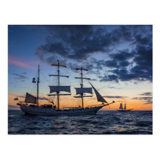 Windjammer on the Baltic Sea Postcard