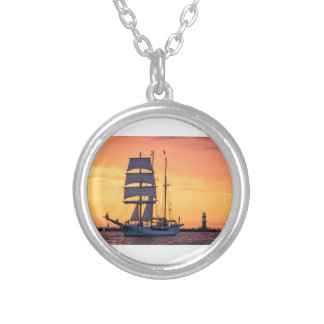 Windjammer on the Baltic Sea Silver Plated Necklace