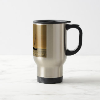 Windjammer on the Baltic Sea Travel Mug