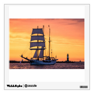 Windjammer on the Baltic Sea Wall Sticker