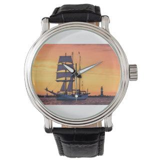 Windjammer on the Baltic Sea Wristwatch
