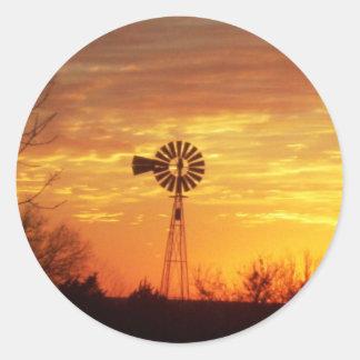 Windmill 2 round sticker