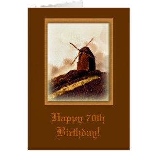 Windmill 70th Birthday Card