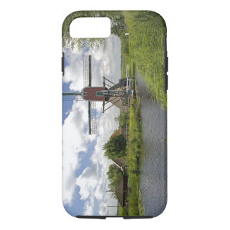 Windmill along a canal east of Leiden in the iPhone 7 Case