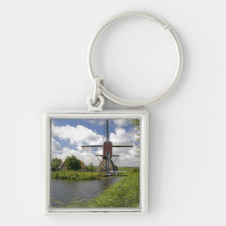 Windmill along a canal east of Leiden in the Keychain