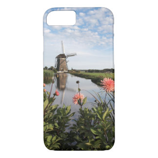 Windmill and flowers iPhone 7 case