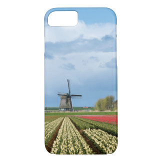 Windmill and tulips landscape iPhone 7 case