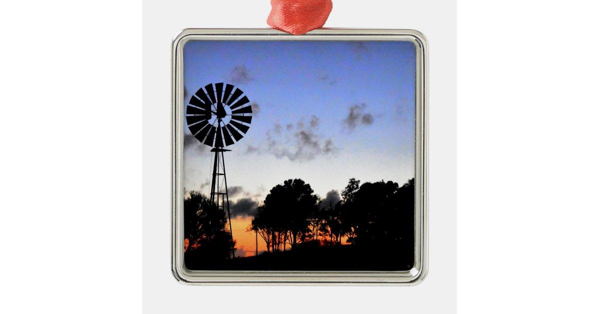 Baby Gifts Queensland : Windmill at day break queensland australia metal ornament