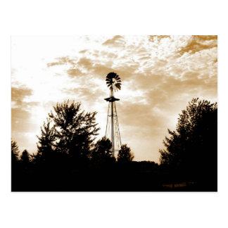 Windmill at Dusk Postcard