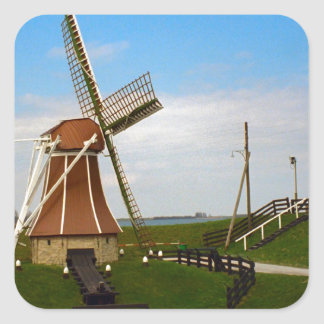 Windmill at Enkhousen Square Stickers