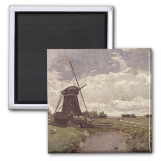 Windmill at Leidschendam Square Magnet