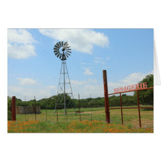 Windmill At Menagerie Ranch Card