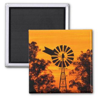 Windmill at Sunset, Australia Magnet