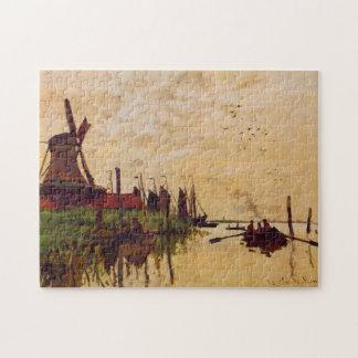Windmill at Zaandam Monet Fine Art Puzzles