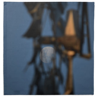 WINDMILL BLADES AND MOON AUSTRALIA NAPKIN