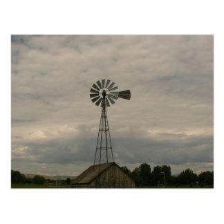 Windmill & Cloudy Sky Postcard