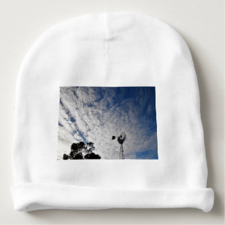 WINDMILL & CLOUDY  SKY QUEENSLAND AUSTRALIA BABY BEANIE