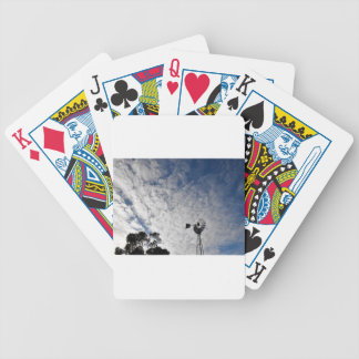WINDMILL & CLOUDY  SKY QUEENSLAND AUSTRALIA BICYCLE PLAYING CARDS