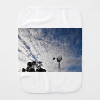 WINDMILL & CLOUDY  SKY QUEENSLAND AUSTRALIA BURP CLOTH