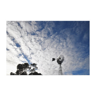 WINDMILL & CLOUDY SKY QUEENSLAND AUSTRALIA CANVAS PRINT