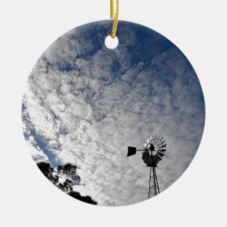 WINDMILL & CLOUDY  SKY QUEENSLAND AUSTRALIA CERAMIC ORNAMENT