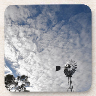 WINDMILL & CLOUDY  SKY QUEENSLAND AUSTRALIA COASTER