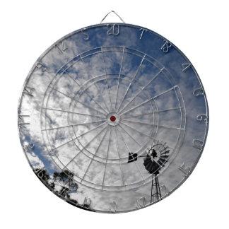 WINDMILL & CLOUDY  SKY QUEENSLAND AUSTRALIA DARTBOARD