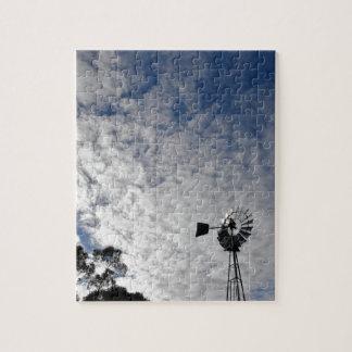WINDMILL & CLOUDY  SKY QUEENSLAND AUSTRALIA JIGSAW PUZZLE