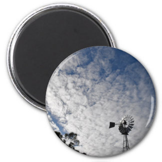 WINDMILL & CLOUDY  SKY QUEENSLAND AUSTRALIA MAGNET